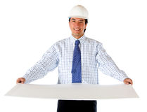 Engineer with a model Stock Image