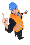 Engineer needs more time. Engineer hasen't had time to finish his work Royalty Free Stock Photography