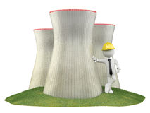 Engineer at a nuclear plant Royalty Free Stock Photos