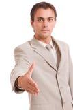 Engineer offering handshake Stock Images