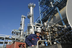 Engineer, oil, fuel and gas Stock Images