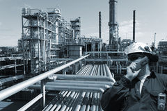 Engineer, oil, fuel and gas Royalty Free Stock Photos