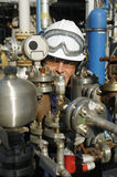 Engineer, oil, fuel and machinery Stock Photo