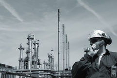 Engineer and oil and gas industry Royalty Free Stock Photo