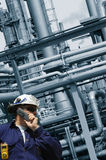 Engineer and oil and gas industry Royalty Free Stock Photos