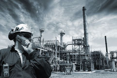Engineer oil, gas and power Royalty Free Stock Photos