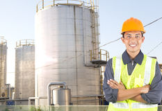 Engineer oil gas refinery Royalty Free Stock Photos