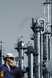Engineer and oil industry Stock Photography