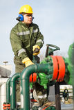 Engineer in the oil and natural gas field Stock Image