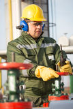 Engineer in the oil and natural gas field Royalty Free Stock Photography