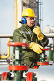 Engineer in the oil and natural gas field Stock Photography
