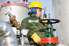 Engineer in the oil and natural gas field Royalty Free Stock Photo
