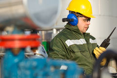Engineer in the oil and natural gas field Stock Images