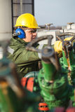 Engineer in the oil and natural gas field Royalty Free Stock Photos