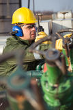 Engineer in the oil and natural gas field Royalty Free Stock Images
