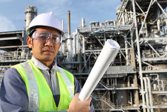 Engineer oil refinery Stock Photos
