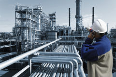 Engineer and oil refinery