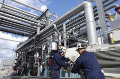Engineer and oil refinery Royalty Free Stock Photography