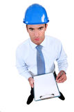 An engineer performing a check Royalty Free Stock Photos