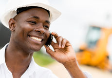 Engineer on the phone Royalty Free Stock Images