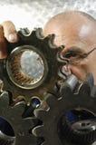 Engineer, phycisit examining geometry Royalty Free Stock Image