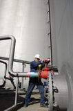 Engineer, pipelines oil and gas Stock Photos