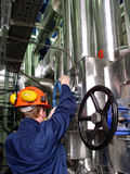 Engineer and pipelines Stock Photography