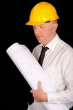 Engineer with Plan Royalty Free Stock Photo