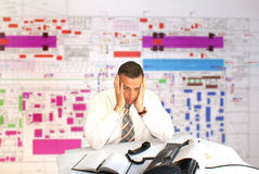 Engineer- planner Stock Photo
