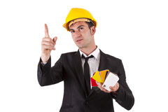 Engineer pointing Stock Image