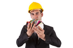 Engineer pointing Stock Images