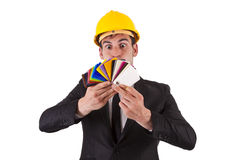 Engineer pointing Royalty Free Stock Photography