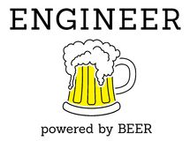 Engineer - powered by beer Royalty Free Stock Images