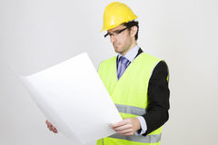 Engineer with a project Stock Photography