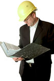 Engineer reading files royalty free stock images
