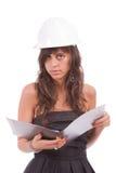 Engineer reading plan Royalty Free Stock Photos