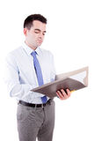 Engineer reading plan Royalty Free Stock Photo
