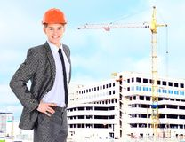 Engineer With Red Hard Hat Royalty Free Stock Photo