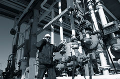 Engineer at refinery fuel terminal Stock Photography