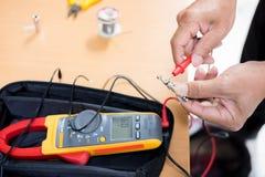 Engineer Repairing and adjustment of the equipmen royalty free stock photo