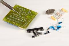 Engineer repairing circuit Royalty Free Stock Image