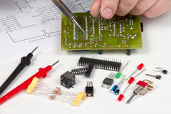 Engineer repairing circuit Stock Photos