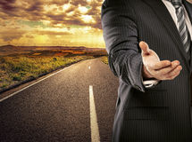 Engineer on the road Royalty Free Stock Photography