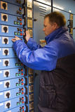 Engineer running tests Stock Photos