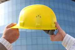 Engineer's helmet Royalty Free Stock Photo