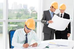 Engineer's office Royalty Free Stock Image