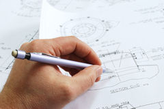 Engineer's work Stock Photography