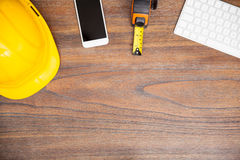 Engineer's workspace with copy space Stock Photography