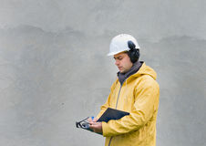 Engineer in safety suit Stock Photos