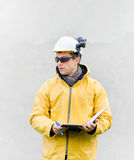 Engineer in safety suit Royalty Free Stock Photography